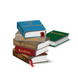 isometric books stack vector image