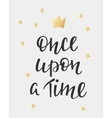 Lettering photography fairy tale girl overlay vector image vector image