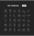 line icons rio carnival vector image