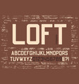 loft condensed sans serif typeface design vector image vector image