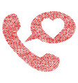 love phone message fabric textured icon vector image vector image