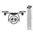 Medication quadcopter icon with professional bonus vector image
