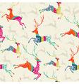 Merry Christmas reindeer seamless pattern file vector image vector image