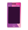 mobile phone for woman in pink color vector image