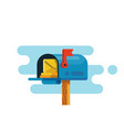 open mail box with mails vector image vector image
