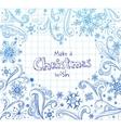 ornate christmas frame vector image vector image