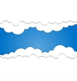 Paper clouds on a blue background Eps 10 vector image