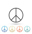 peace sign icon isolated on white background vector image