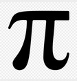 pi symbol icon vector image vector image