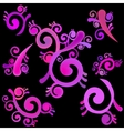 pink abstract pattern with swirls vector image