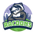 racoon mascot style vector image vector image