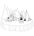Santa Claus and American Indian chief vector image vector image