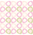 seamles pattern with pink and olive ovals vector image
