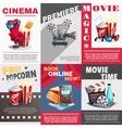 Set Of Cinema Posters With Premiere Advertising vector image vector image