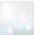 Snowflakes light background vector image vector image