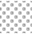 space sun pattern seamless vector image