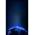 The Earth Planet and Space Background for your vector image vector image