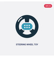 two color steering wheel toy icon from toys vector image