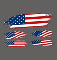usa flag paintbrush on gray background vector image