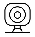 webcam icon vector image