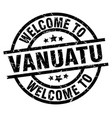 welcome to vanuatu black stamp vector image vector image