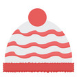 winter hat on white background vector image vector image