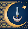 with golden moon star and oriental ornament vector image vector image
