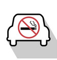 no smoking sign in the car vector image