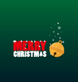 Merry Christmas text and small bell flat design vector image