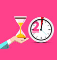 2 minutes hourglass time symbol 2 minute counter vector image