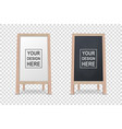 3d realistic blank white and black wooden vector image vector image