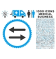 Arrows Exchange Icon with 1000 Medical Business vector image vector image