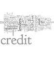 bad credit mortgages and the options you have vector image vector image