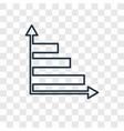 bar chart concept linear icon isolated on vector image