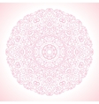 Beautiful pink ornamental background vector image vector image