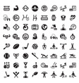 Big fitness icon set vector image