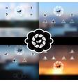 blurred landscapes set vector image