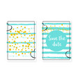 bridal shower card with dots and sequins wedding vector image vector image