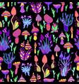 bright hallucinogenic decorative fantastic vector image vector image
