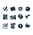 Business icon set v2 vector image vector image