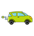 cartoon car icon on white background vector image