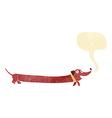 cartoon dachshund with speech bubble vector image vector image
