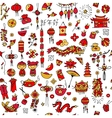 Chinese new year background seamless pattern for vector image