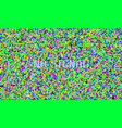 color pixel noise test tv screen digital vhs vector image vector image