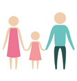 color silhouette pictogram parents with a girl vector image vector image