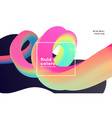 colorful 3d fluid loop abstract background vector image vector image