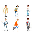 comical fashion characters vector image vector image
