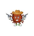 Cowboy cartoon infection coronavirus holding guns