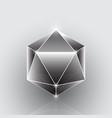 create polygon geometric gemstone element vector image