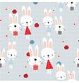 cute rabbit bunny friend in summer garden vector image
